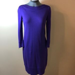 Michael Kors purple sweater dress EUC